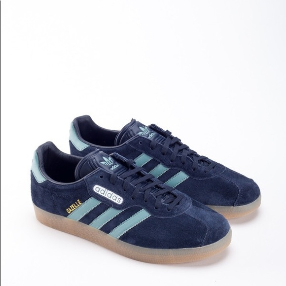 ADIDAS GAZELLE SUPER NIGHT NAVY VAPOUR STEEL GOLD